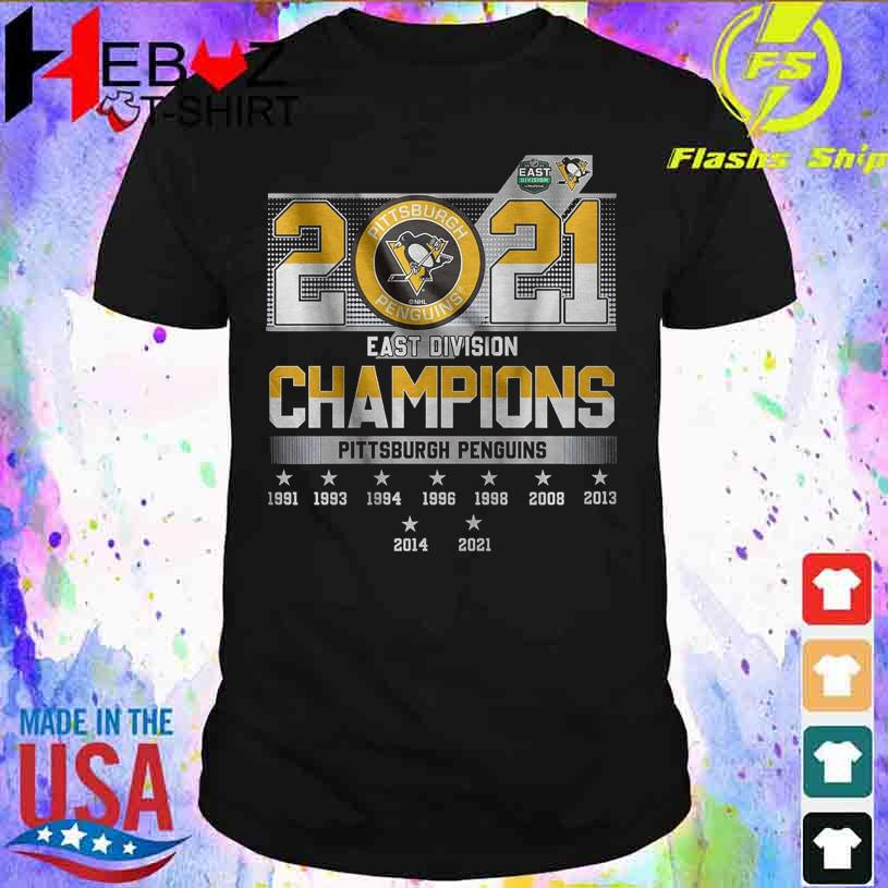 2021 Pittsburgh Penguins east division Champions shirt
