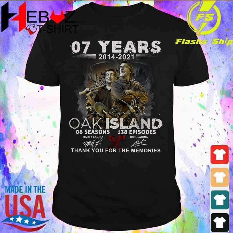 07 Years 2014 2021 the curse Oak Island 08 seasons 138 Episodes signatures shirt