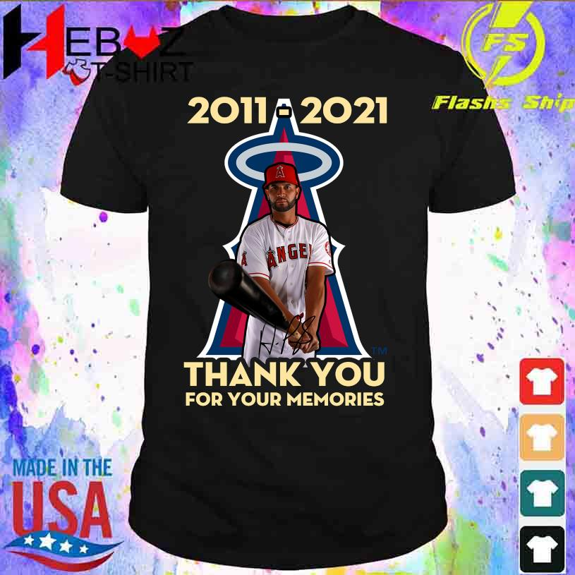 Albert Pujols Los Angeles Angels 2011 2021 thank You for Your Memories signature shirt