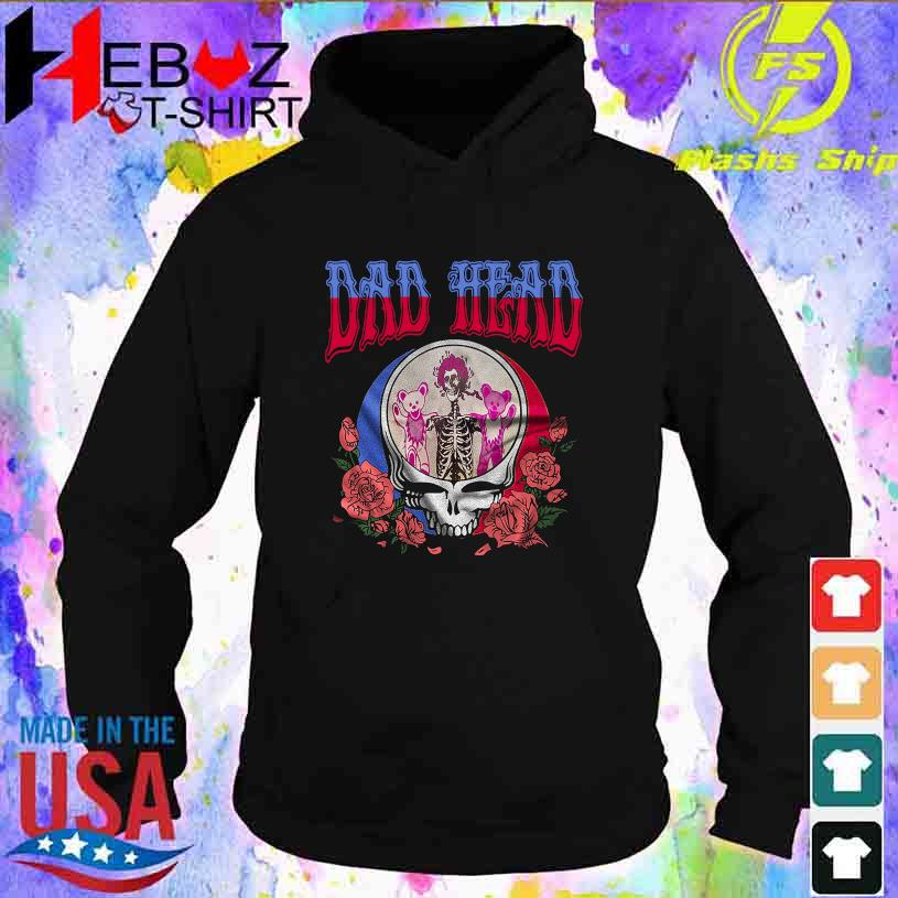 Dad Head Bear and rose s hoodie