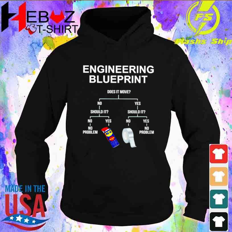 Engineering Blueprint Does It Move Shirt hoodie