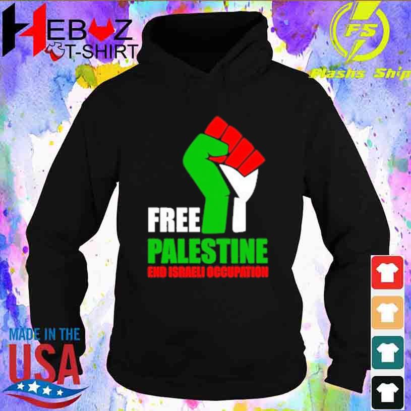 Free Palestine and israeli occupation hoodie
