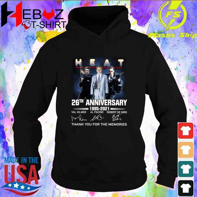 Heat 26TH Anniversary 1995 2021 thank You for the memories signatures s hoodie