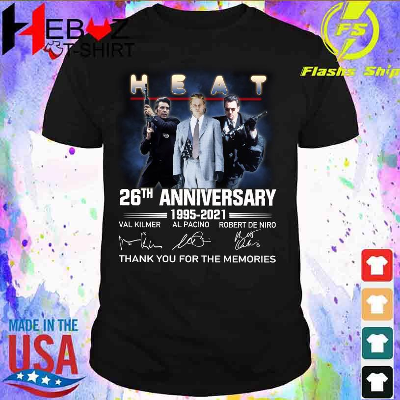 Heat 26TH Anniversary 1995 2021 thank You for the memories signatures shirt