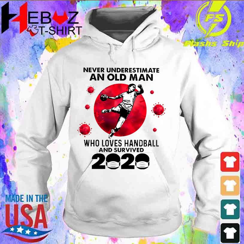 Official Corona Never underestimate an old Man who loves Handball and survived 2020 hoodie