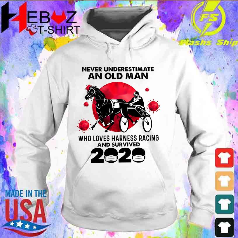Official Corona Never underestimate an old Man who loves Harness Racing and survived 2020 hoodie