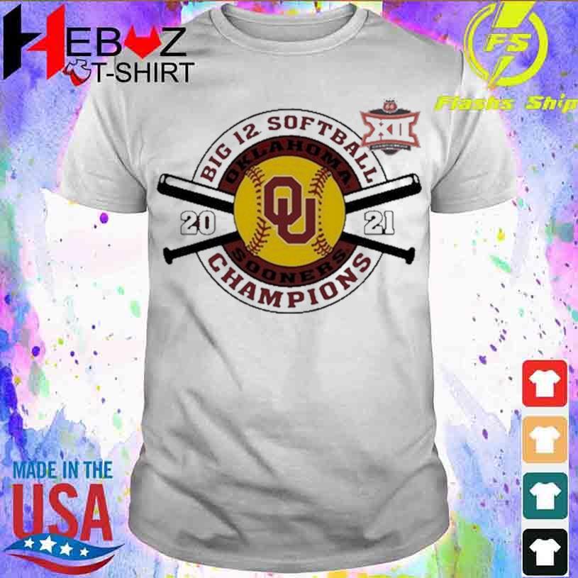 Official Crimson Oklahoma Sooners 2021 Big 12 Softball Tournament Champions Shirt
