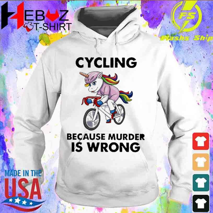 Unicorn Cycling Because Murder Is Wrong Vintage T-s hoodie