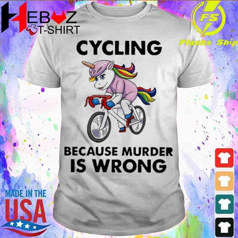 Unicorn Cycling Because Murder Is Wrong Vintage T-shirt